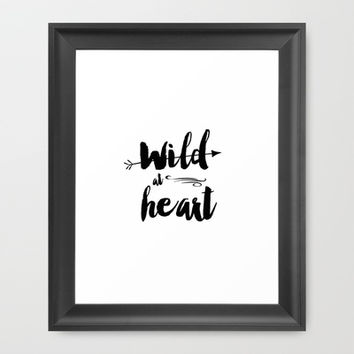 wild at heart Framed Art Print by Sylvia Cook Photography