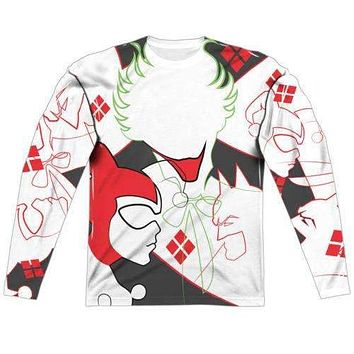 DC Comics The Joker Harley Inline Long Sleeve Sublimation T-Shirt