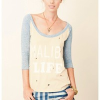 Rebel Yell - Malibu Destroyed Baseball Tee