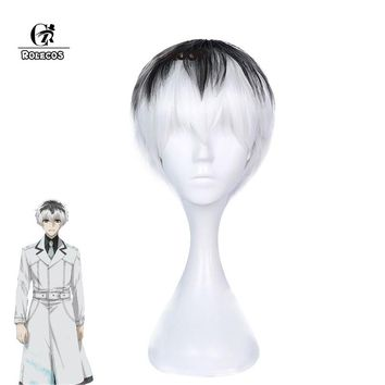 ROLECOS Anime Cosplay Tokyo Ghoul:re Cosplay Kaneki Ken Sasaki Haise Headwear Short Hair Accessories Cosplay Synthetic Hair
