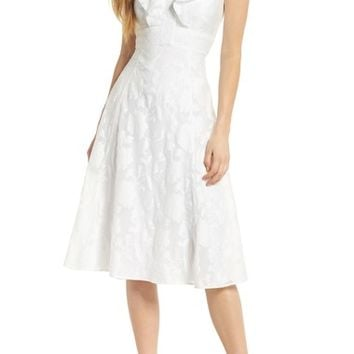 Gal Meets Glam Collection Floral Organza Fit & Flare Dress | Nordstrom