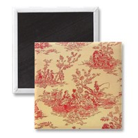 Vintage Toile  Wallpaper Magnet from Zazzle.com
