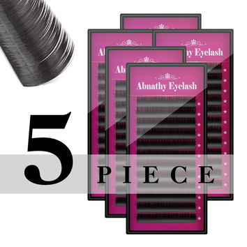 5cases D curl nature eyelashes