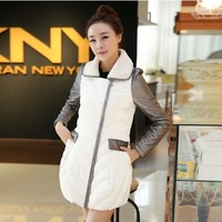 Women : Elegant Shiny Korean Down Coat YRB0413