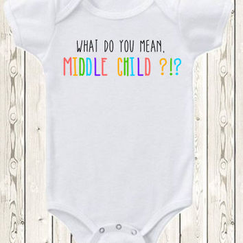 Middle Child Pregnancy Announcement Onesuit ® brand bodysuit or shirt for big brother or big sister pregnancy reveal ideas birth announcement