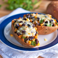 Healthy Mexican Sweet Potato Skins