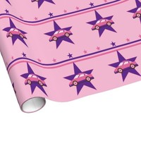 Pink Racecar Wrapping Paper