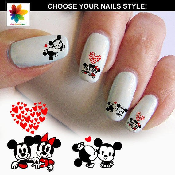 Nail Art Games For Girls On The App Store: Baby Mouse In Love, Disney Nail Art, From Nailsgraphicworld