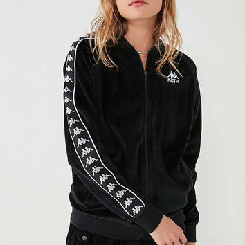 Kappa+ UO Mivvie Velour Track Jacket | Urban Outfitters