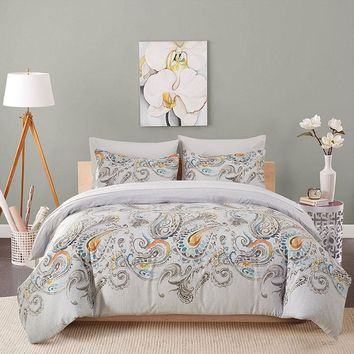 European Floral Printing Bedding Set Personalized Elegant Pattern Pillowcase and Duvet Cover Sets Home Textile Comforter