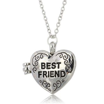 New best friend Gift Animal heart shape Photo Frames Can Open Locket Necklaces Heart Pendants fit Necklace Women Holiday gifts