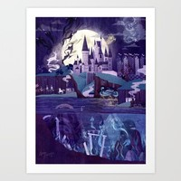 Never a Quiet Year at Hogwarts Art Print by Anne Lambelet