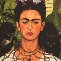 Frida Kahlo Self-Portrait with Thorn Necklace Poster 24x36