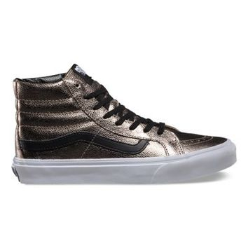 Vans Metallic Leather SK8-Hi Slim (bronze/black)
