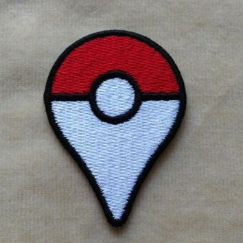 POKEBALL embroidery of iron custom patch embroidered badges decorative decalKawaii Pokemon go  AT_89_9