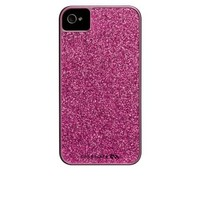 Case-Mate Hot Pink Glitter Coated Glam Case for iPhone 4 4S