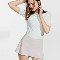 Rose Pink Mid Rise Mini Skort from EXPRESS