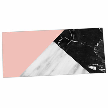 "Cafelab ""Marble Collage With Pale Pink ""  Gray Pink Desk Mat"