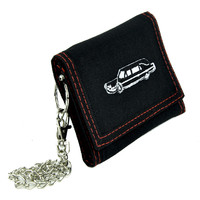 Funeral Hearse Car Tri-fold Wallet w/ Chain Occult Clothing