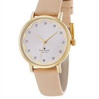 Kate Spade New York Metro Scalloped Dial Watch With Vachetta Band