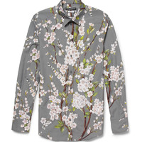 Dolce & Gabbana - Gold-Fit Blossom-Print Cotton Shirt | MR PORTER
