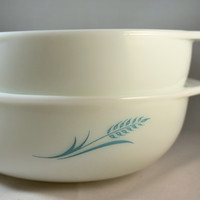 "Pyrex ""Blue Wheat"" Hostess #023 1.5 Quart Casserole-1961"