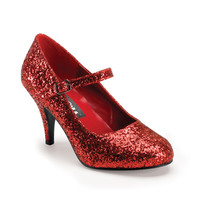 Red Glitter Mary Jane Heels Dorothy Shoes/Rockabilly/Cosplay [GLIN50G/R] - $39.99 : Uturn Utopia, Retro footwear, Rockabilly Shoes, Vintage Inspired Clothing, jewelry, Steampunk