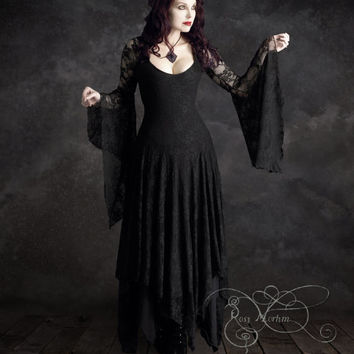 Annaleah Romantic Gothic Wedding Dress - Custom Made to Measure by Rose Mortem - Dark Romantic Couture and Fairy Tale Dresses