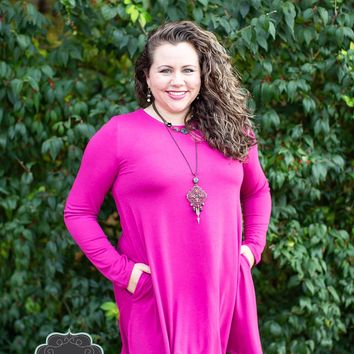 Long Sleeve Magenta Tunic