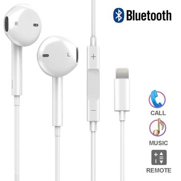 Iphone 7 headphones, DPKIKO Lightning iphone earbuds With Microphone Earphones Stereo Headphones and Noise Isolating headset for Apple iPhone 7/7 Plus/8/8Plus/X
