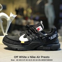 Virgil Abloh Off White x Nike Air Presto OW AA3830-002 Black Men Sport Running Shoes