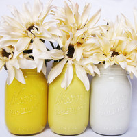 Yellow Ombre Mason Jar Set