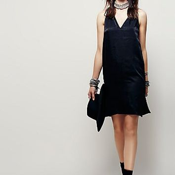 Free People Womens Satin Lover Dress