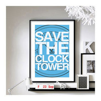 Back to the Future (Save the Clock Tower) A3 Art Print