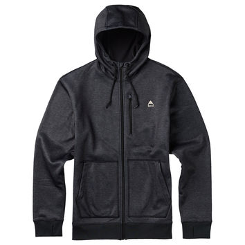 Burton: Classic Bonded Full-Zip Hoodie - True Black Heather