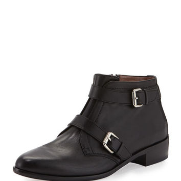 Tabitha Simmons Windle Buckled Leather Bootie