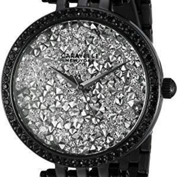 Bulova Women's Quartz Stainless Steel Casual Watch, Color:Black (Model: 45L160)