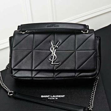 DCCK2 1179 Yve Saint Laurent YSL WEST HOLLYWOOD Large capacity handbag Black