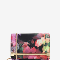 Cascading floral clutch bag - Black | Bags | Ted Baker ROW