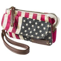 Mad Love Isadora Studded Wristlet - Red/White