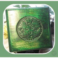 """Greenman "" Altar Table"