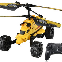 Attop YD-922 Electronic RC Helicopter with Gyroscope, Missile Fire (Yellow)