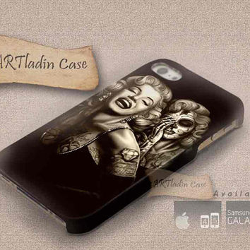 Marilyn Monroe Day Of The Dead 3D iPhone Cases for iPhone 4,iPhone 4s,iPhone 5,iPhone 5s,iPhone 5c,Samsung Galaxy s3,samsung Galaxy s4