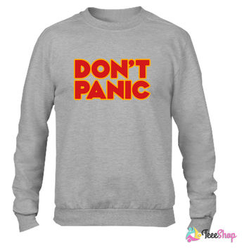 Don't panic (Hitchhiker's Guide to the Galaxy)_ Crewneck sweatshirtt