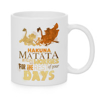 Hakuna Matata Watercolor Coffee Mug, Kids Mug, Disney Mug