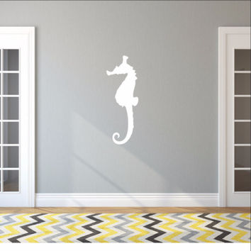 Large Seahorse Style B Vinyl Wall Decal 22566