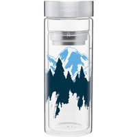 Mountainscape Double Wall Glass Tumbler