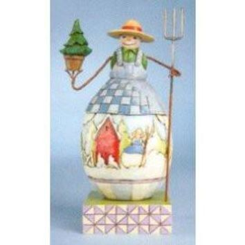 Jim Shore HWC Small Snowman with Tree - 4010359