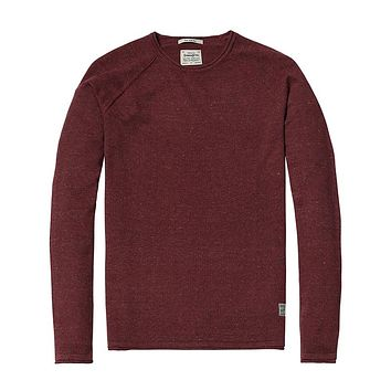 Crew Neck Sweater Maroon