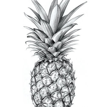 Pineapple Art Print by Sibling & Co.